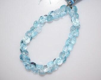 "Sky Blue Topaz Faceted Onion Shape Beads-Sky Blue Topaz Onion Shape Briolette, 5x7 - 6x7 mm, 7"" , BL770"