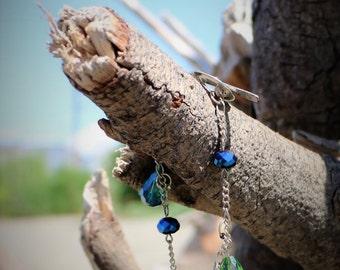 Cordelia Blue and Green Bead Bracelet