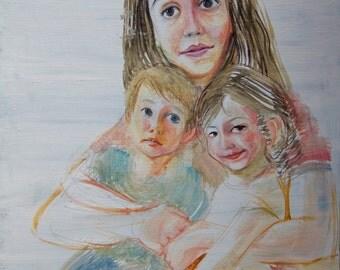 Custom Family Portrait - Modern Art Style