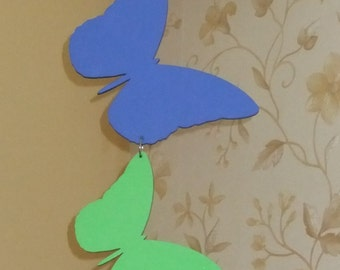Hanging Butterflies, MDF butterflies, flutterbies, Handpainted butterflies, butterfly kisses, girl's room decor, butterfly art, home decor