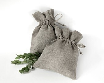 Linen favor bags, Linen Pouches, Linen sachets, Wedding favor Gift bags, Christmas Favor Bag, Christmas Gift Bag, Gift Packaging