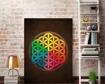 Mandala Digital Downloads Print Sacred Geometry Print Mandala Art Print Sacred Geometry Art Mandala Print Flower of Life Print