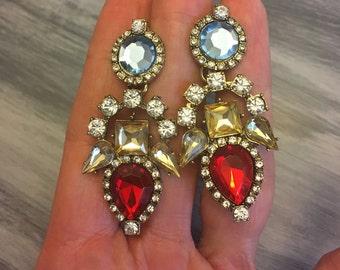 Stunning cluster chandelier earrings