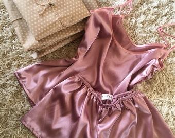 Women's satin pajama set | Short pajama set | Satin sleepwear | Black pajama set | Satin short and shirt | Satin pajama | Pajama set