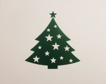 Christmas Tree Decal Christmas Decals Vinyl Wall Stickers Removable  Wallpaper Laptop Sticker Laptop Decal Window Decal Part 97