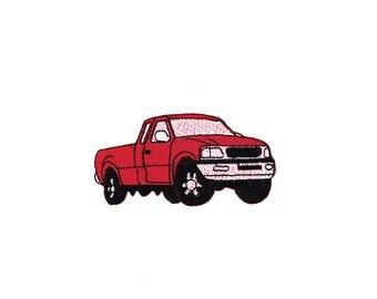 Cool Pickup Truck applique machine embroidery design- 3 ...