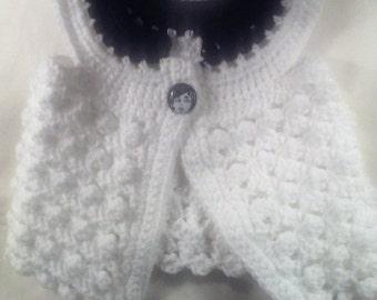 Black & White Flutter w/ Matching Headband