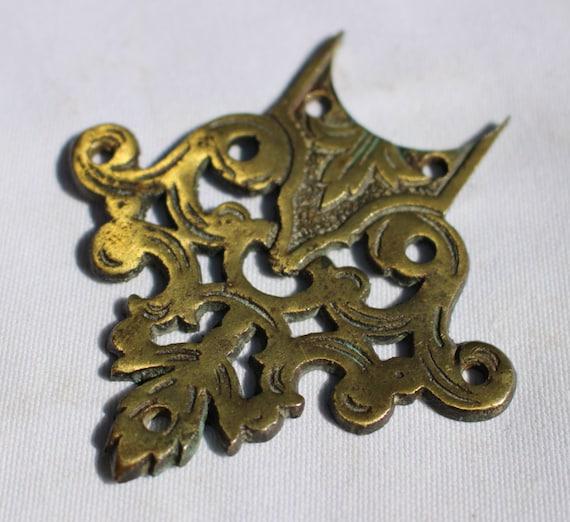 Antique brass back plate eschuceon decorative piece of