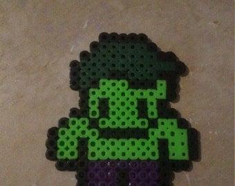 Hulk perler bead magnet Ready to Ship!!