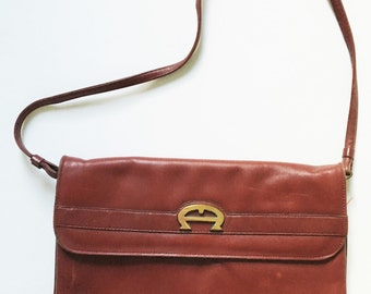 Vintage 70s Etienne Aigner Leather Handbag