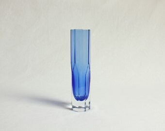 Vintage, Scandinavian Glass, Lindshammar by Gunnar Ander, Cobalt Blue Glass Vase, Swedish, Mid-century