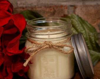 8 Ounce Mason Jar 100% Soy Holiday/Winter Candle