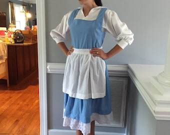 Belle Blue Dress Costume for Adult Woman, Girls, or Toddler
