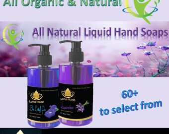 Natural Liquid Hand Soaps by Lotus House - 300ml