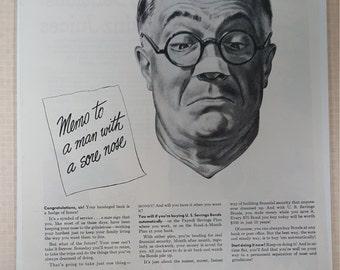 1949 original U.S. Saving Bonds print ad.