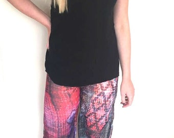 Lightweight sheer beach or travelling trousers