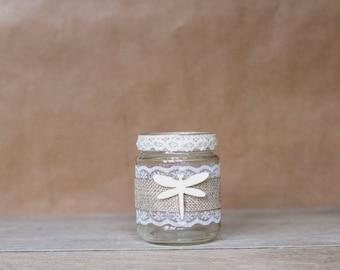 Rustic Dragonfly Jar - Small