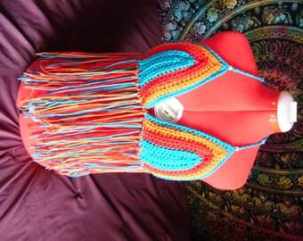 Fringy Crochet Festival Top