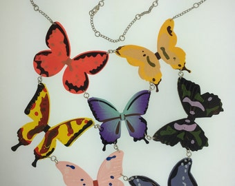 7 Butterfly Necklace