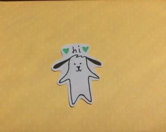 """Snapchat Puppy """"Hi"""" Sticker"""