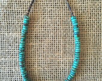 Turquoise Single strand necklace.