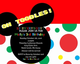 Mickey Mouse Club House Invite DIGITAL DOWNLOAD
