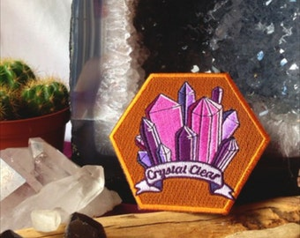 Crystal Clear Iron on Embroidered Patch