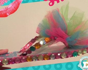 Children's tutu flip flops