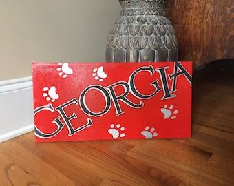 Georgia Bulldogs Canvas