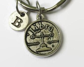 Libra Keychain - Astrology Jewelry - Libra - Zodiac Keychain - Libra Gift - Christmas in July - Gifts Under 15 - Zodiac Gift