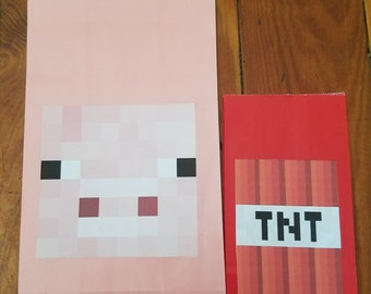 Lunch Bags- Minecraft