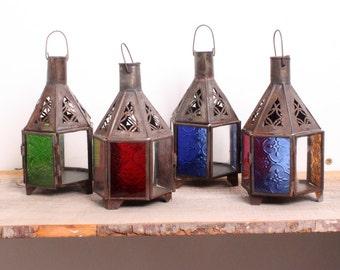 Authentic Bohemian Moroccan Taza Lantern from Marrakech