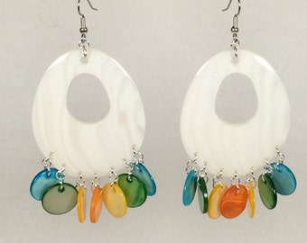 Extra Large Mother of Pearl Earrings