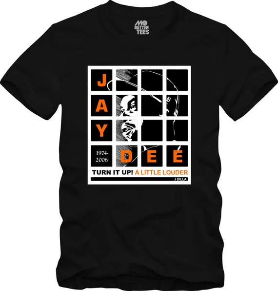 J Dilla black T-Shirt MPC Pads Doughnuts Shining Graphic Tee Jay Dee SV Hip-Hop super producer
