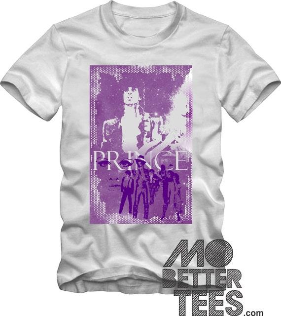 Prince Graphic Tee T-Shirt Memorial Shirt Purple Rain Theme