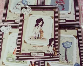 Bothy Threads Gorjuss Series: I Love You Little Rabbit Cross Stitch Kit