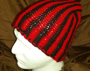 Vertical Striped Beanie Hat