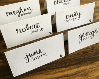 Hand Lettered Place Cards