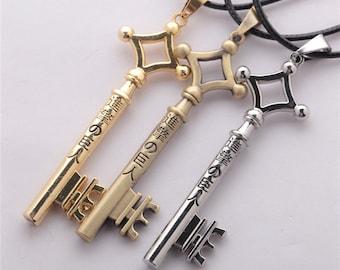 Attack On Titan Eren Key Necklace Metal Pendant Eren Cosplay Jewelry Toy Anime Figure Shingeki No Kyojin