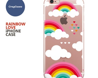 Clear Rainbow iPhone 6s Case Rainbow iPhone 6s Plus Case Rainbow iPhone 7 Case,  iPhone 6 Plus Case (Shipped From UK)