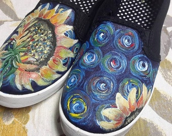Van Gogh's Sunflower Hand Painted Shoes