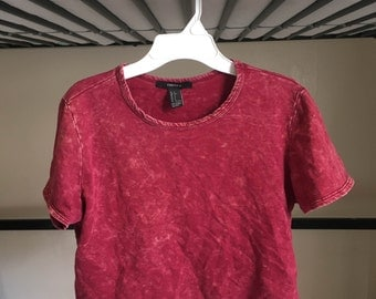 Washed Out Crop Top Size S