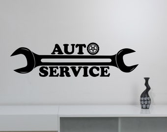 Repair Service Decal Etsy - Custom vinyl wall decals logo
