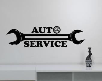 Repair Service Decal Etsy - Custom vinyl wall decals logo