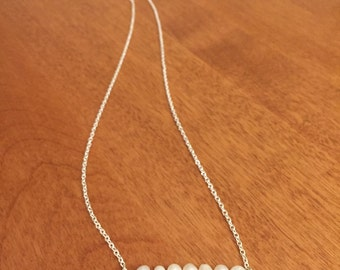 Delicate Freshwater Pearl Bead Bar Necklace