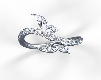 "Stackable diamond ""Fairies Whisper"" rings"