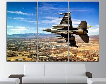Fighter Wall Art Fighter Wall Decor Military Canvas Art Air Force Wall Art Aircraft Wall Art Plane Wall Art Aircraft Canvas Art Airplane Art