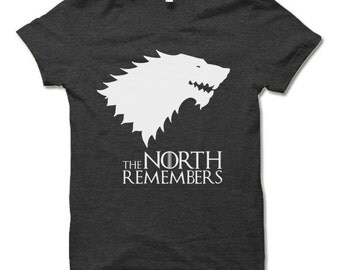 The North Remembers T Shirt. Cool Game of Thrones Shirt Winterfell Winter is Coming Tee Shirt.