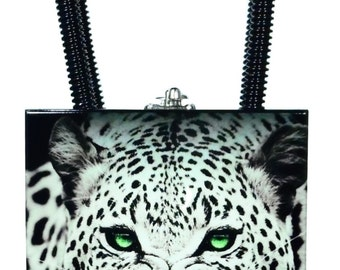 Constance Black and White Leopard