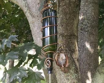 Whimsical hummingbird feeder
